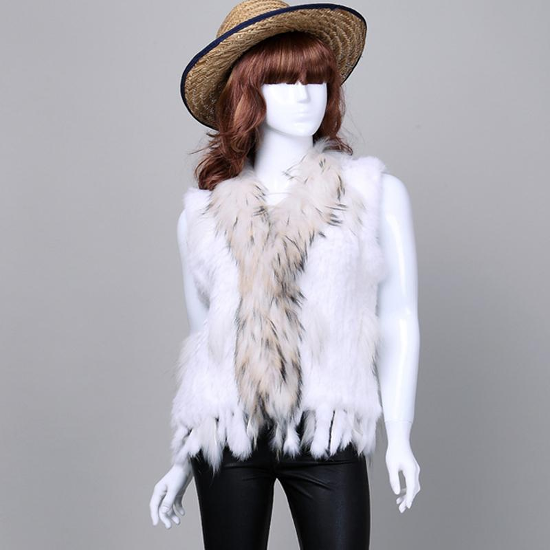 VR032 Hot Sale Retail/wholesale rabbit Fur vestS Women Knitted Natural Rabbit Fur VestS Gilet/waistcoat(China (Mainland))