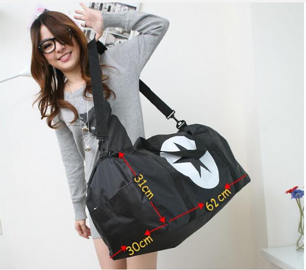 2015 New Gym Bags Black Waterproof Mulitifunctional Outdoor Men/Woman Luggage&Travel Tote Black Sports Bags(China (Mainland))