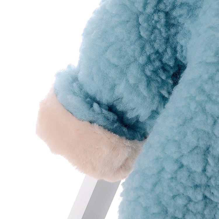 Скидки на 2016 Зима Детская Одежда 3d Длинные Уши Детские Девушки Одежды Плюс Бархат Утолщение Теплый Дети Костюм Пиджаки Осень Капюшоном Пальто