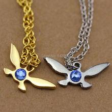 fashion maxi necklace  rhinestone necklace Zelda Navi pendant Necklace(China (Mainland))