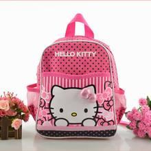 2016 Children Girls Hello Kitty Mini Backpack Catoon School Bag Students Gift(China (Mainland))