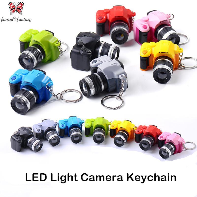 Fancy&Fantasy Creative camera Led keychains With sound LED Flashlight Key chain Fancy toy Key Ring Amazing gift Keychain ZKDF(China (Mainland))