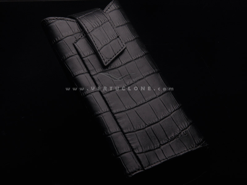 High Quality genuine crocodile skin Case for Vertu luxury phone 100% genuine case for luxury Aster/Ti/Touch bentley boucheron(China (Mainland))