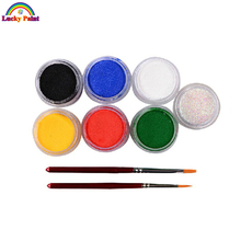 Face Paint Body Painting 6 Colors Set Brushes Glitter Colored Drawing Pigment 9g Face Makeup Maquiagem Paste Party Halloween(China (Mainland))