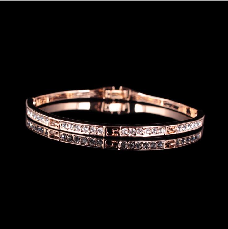 MENG 2 Colors Classic Cubic Zirconia Bangles for Women Bracelet Fashion Jewelry B072710(China (Mainland))