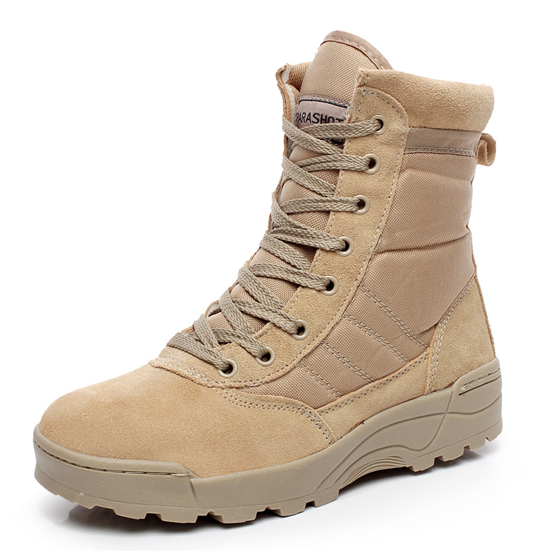 Military Tactical Combat Outdoor Sport Army Men Boots Desert Botas Hiking Autumn Shoes Travel Leather High
