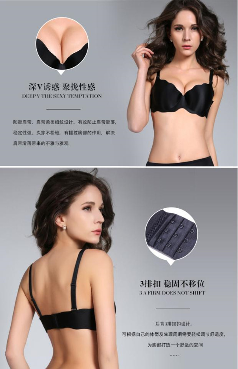 HOT New 2015 One-piece seamless bras push up bra sexy underwear set women underwear bra 5 colors