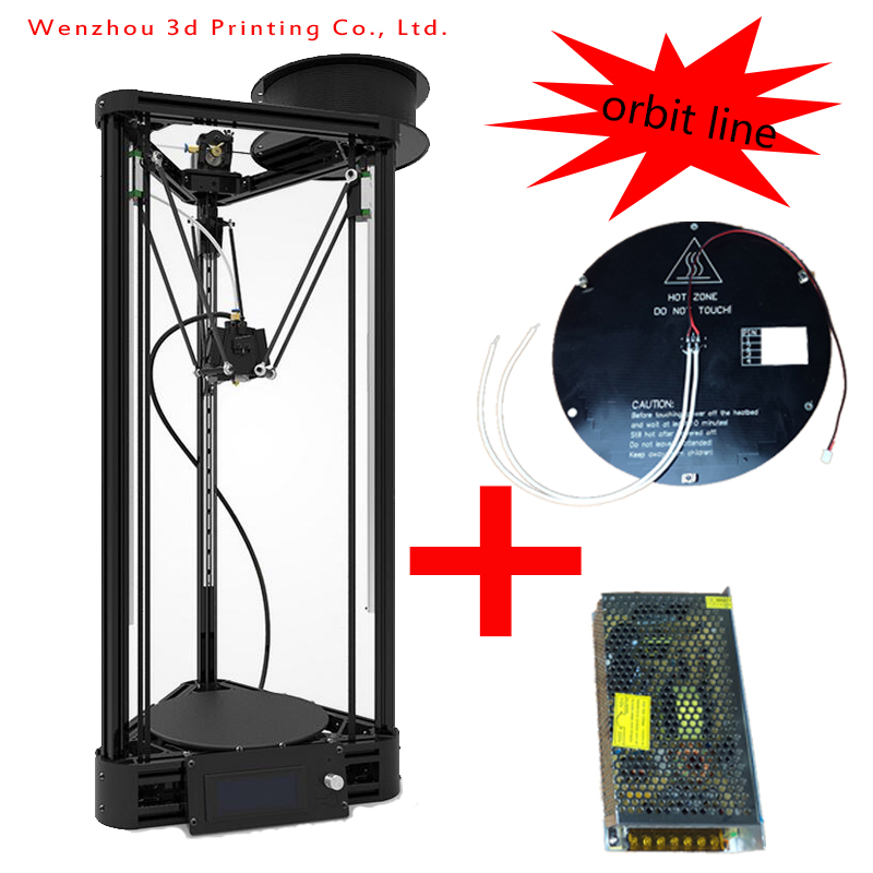 3d Printer kit contain heatbed Reprap prusa i3 For Kossel impresora 3d Machine With Lcd Controller Line rail Assembled Kit(China (Mainland))