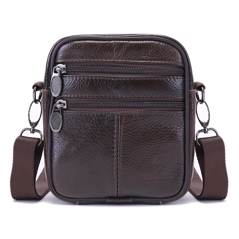 100% Cow Leather New Arrival Fashion Business Leather Men Messenger Bags Small Crossbody Vintage Shoulder Bag Casual Man Bag(China (Mainland))