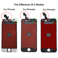 Factory Sale LCD For Iphone 5 5C 5s Screen Display Part Glass Touch Panel Digitizer Assembly