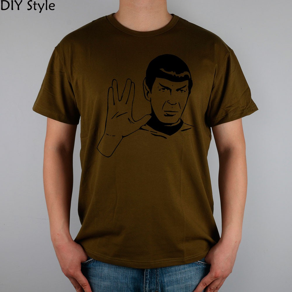 LIVE LONG AND PROSPER SPOCK STAR TREK men short sleeve T-shirt new arrival Fashion Brand t shirt for men  HTB1BWhLMpXXXXa8XXXXq6xXFXXXO