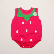 New born Baby Boy Girl Rompers Summer Strawberry Cotton Jumpsuit Baby Clothes BeBe Infant Clothing Toddler Romper Costumes