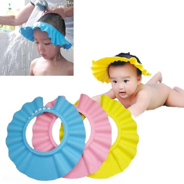 Adjustable Kid Shield Hat Wash Hair children Shower cap protect Shampoo baby Bathing bath waterproof caps hat child - eLife Co.,Ltd store
