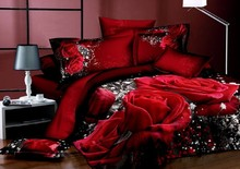 Wholesale of 100% cotton wedding bedding set girl's duvet cover sheet /bedclothes/bed linnen/quilt cover suite(HKY39)
