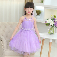 NEW ! Girls summer casual bow lace dress Party Wedding Birthday Tutu Dresses Girls Princess Dress baby girl 12 years old clothes
