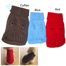 New Fall And Winter Hot Pet Dogs Cat Knitwear Sweater Small Dog Warm Coat Clothes Size XS/S/M Low Price N0005 P12 0.1(China (Mainland))