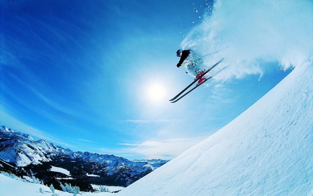 Free shipping,extreme,mountains,Skiing,Poster HD HOME WALL Decor Custom ART PRINT Silk Wallpaper unframed -2237(China (Mainland))