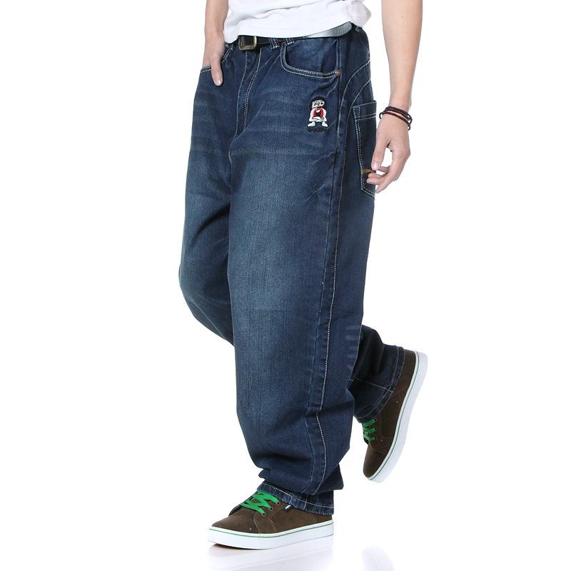 hip hop baggy jeans men calca jeans masculina big size loose pantalones vaqueros hombre mj003 in. Black Bedroom Furniture Sets. Home Design Ideas