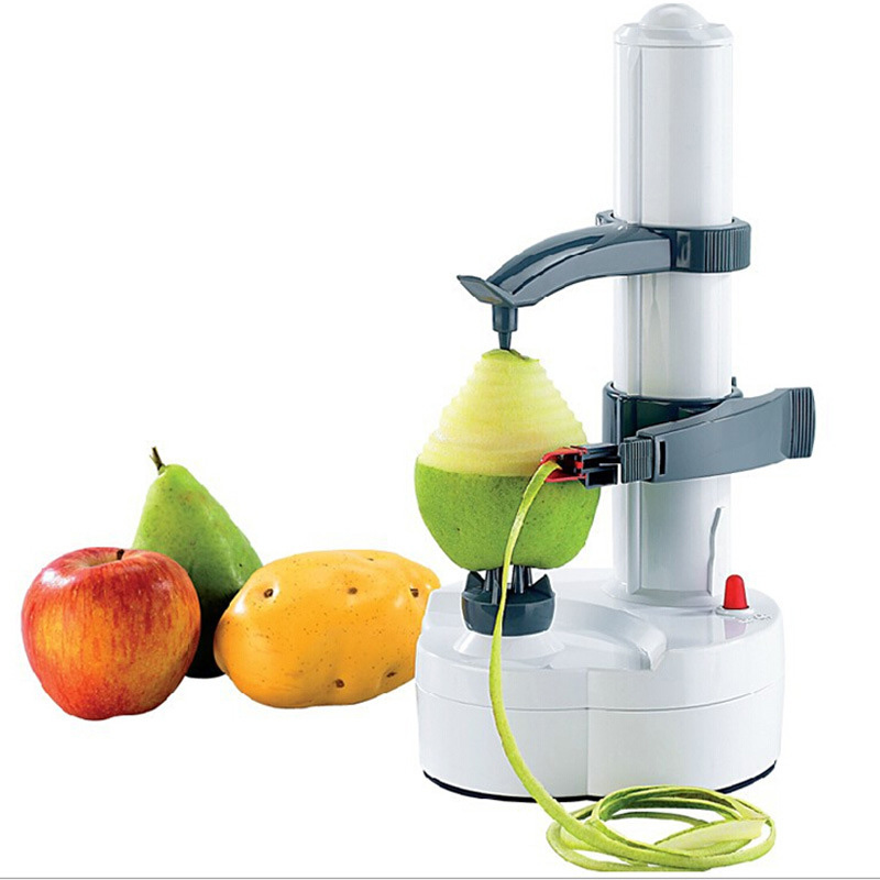Home Practical Electric Potato Peeler Automatic Apple Fruit Cutter Slicer Kitchen Utensil Tool #81350(China (Mainland))