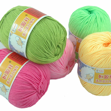 Soft Silk Fiber Cashmere Wool Yarns For Kids Eco-friendly Dyed Baby Yarn For Knitting Wholesale 60 Colors 10 Balls 500g/lot(China (Mainland))
