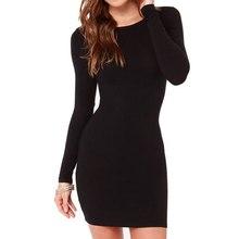 Buy Summer/Autumn Women Slim Bodycon Pencil Dresses Sexy Casual Long Sleeve Black Gray Dress Fashion Elegant Vestidos for $5.44 in AliExpress store