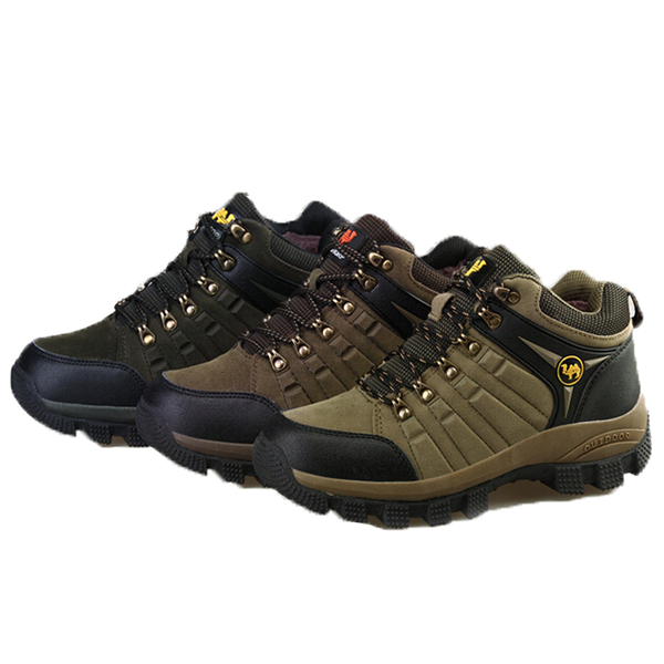 Top Fashion Brand New Outdoor Breathable Comfortable Mens Walking Boots Leather Climbing Shoes Men's Hiking Sneakers(China (Mainland))