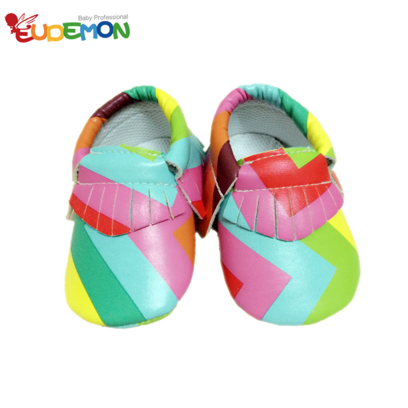 2016 new style PU baby shoes rainbow tassel Infant baby girl shoes Soft Sole Skid First Walkers for toddler moccasins child(China (Mainland))