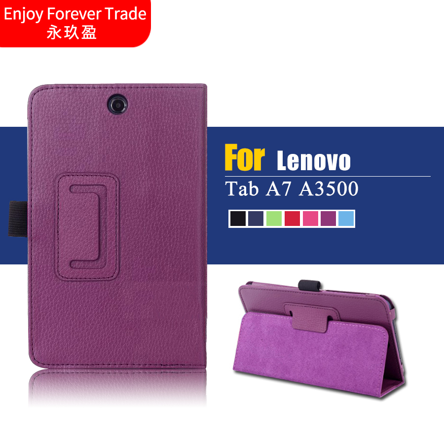 High quality for Lenovo Tab A7 A3500 Tablet Cover 7 inch Stand Flip Folio Tablet for Lenovo A7-50 Leather Protective Case(China (Mainland))