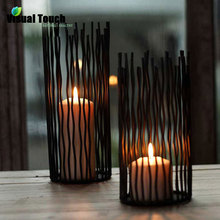 Creative Metal Iron Waves Candle Holders Candlestick Stand Romantic Dinner Table Wedding Part Home Decoration Art Gift(China (Mainland))