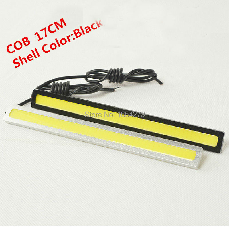 Ultra Bright 18W 17cm/ Silver Shell Daytime Running light 100% Waterproof COB Day time Lights LED Car DRL Driving lamp 2pcs/lots(China (Mainland))