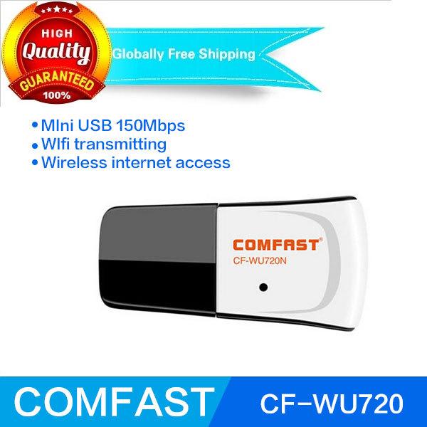 RTL8188EUS usb wireless wifi adapter Comfast CF-WU720N 802.11n/g/b 150mbps wifi transmitter free shippping usb wifi dongle(China (Mainland))