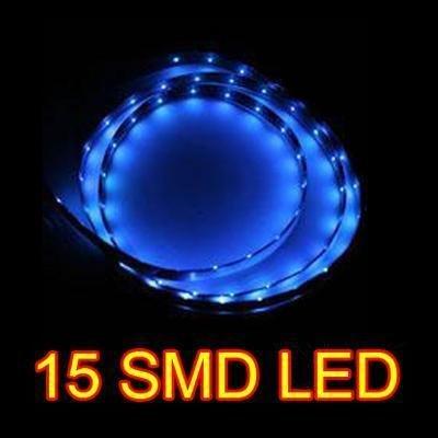 Flexible Led Light Car : Blue 30CM 15 SMD LED Flexible Strip Car Van Light Lamp Bulb 12V ...