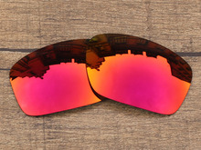 Fire Red Mirror Polarized Replacement Lenses For Scalpel Sunglasses Frame 100% UVA & UVB Protection