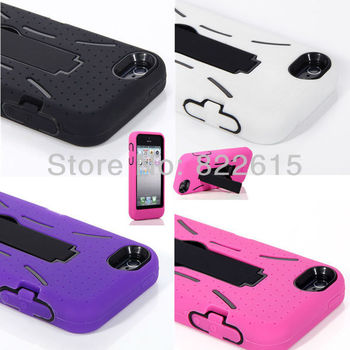 Robot Case Impact Protective Back Cover Skin with Kickstand For iPhone 5 5G 5-colors High Quality Free Shipping Dropshipping