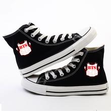 KPOP BTS Bangtan Boys Korean Canvas Shoes FBX056(China (Mainland))