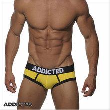 ES,ADDICTED Men Briefs Brand  Men's Sexy Underwear Briefs ES Collection Gay Underwear Popular Underpants cueca Free Shipping(China (Mainland))