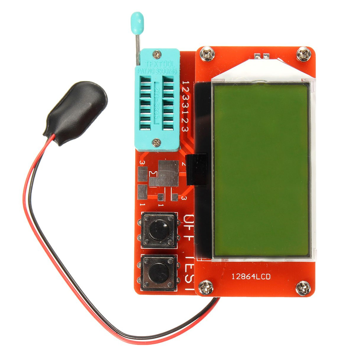 New Electric Component Testers Transistors Diodes Tester Transistor Diode Capacitance ESR Meter Mosfet NPN PNP Inductanc 57x37mm(China (Mainland))