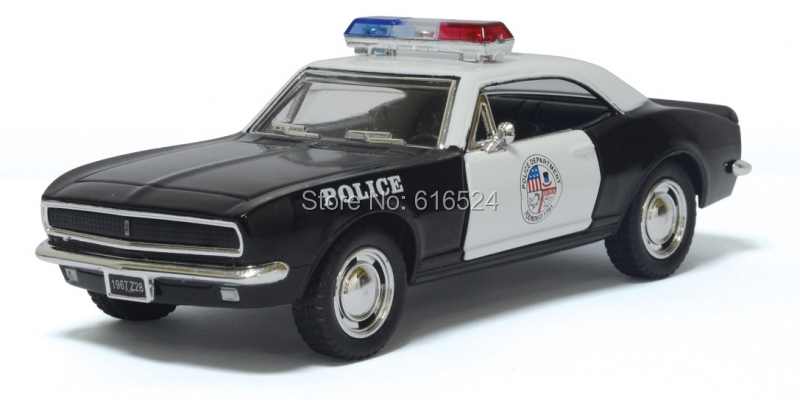Brand New 1967 Chevrolet Camaro Z/28 American Police car Classic Boys Fashion Vintage 1/37 scale Pull-Back Alloy model toy cars(China (Mainland))