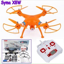 SYMA X8W WiFi FPV 4CH 2.4G 6 Axis Gyro 360 Degree Real Time Video Headless Mode Remote Control Helicopter with HD 0.3MP Camera