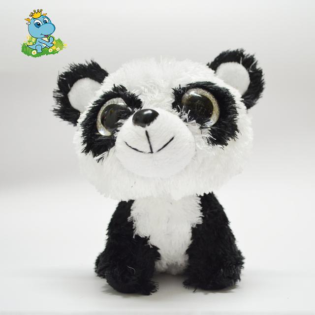 Panda Плюшевые Игрушки 15 см Большой Eyed Мягкие Бамбуковые Панды Дети Плюшевые Игрушки Для Детей Подарки Игрушки