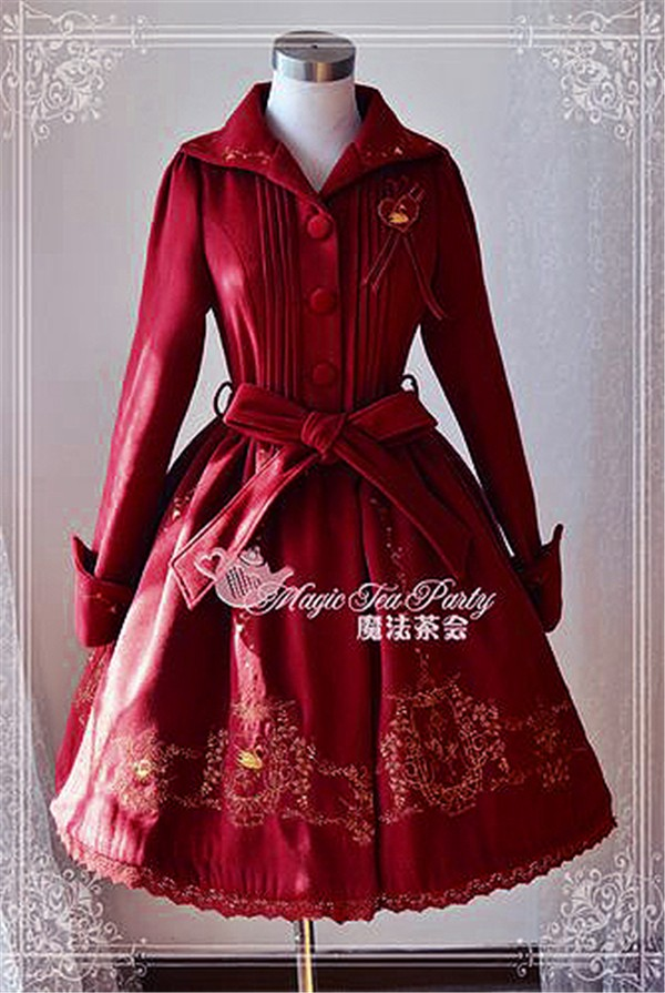 Ladies Victorian Lolita Gothic Palace Winter Warm Swan Lake Embroidery CoatОдежда и ак�е��уары<br><br><br>Aliexpress