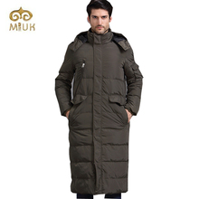 White Duck Down Casual Long Men Big Size XXL Size Black Army winter jacket parka Very Thick Russia Clothes(China (Mainland))