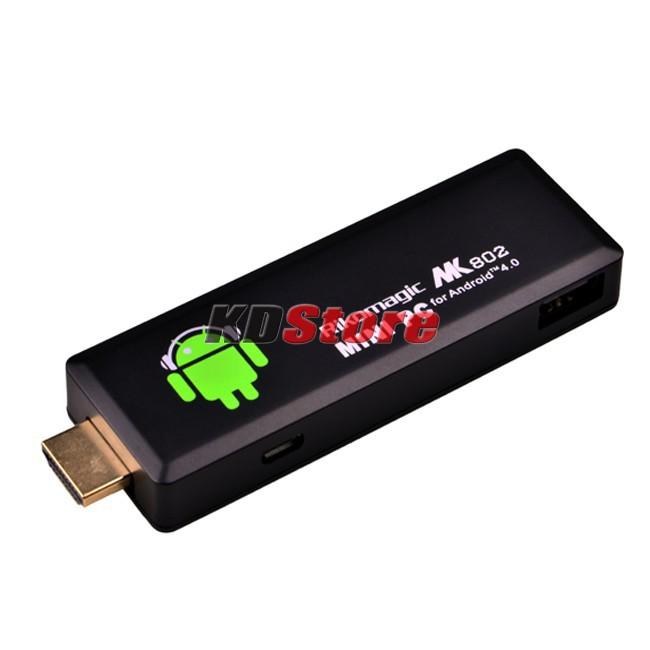Rikomagic RKM 3rd Generation MK802 II Android 4.0 Mini PC Google TV Box Internet Wifi Player (DW056) @CF(China (Mainland))