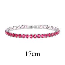 UMODE Fashion Charm Bracelets For Women Colorful Zirconia Jewelry Box Chain Tennis Braclets Love Gifts Pulseira Feminina AUB0097(China)