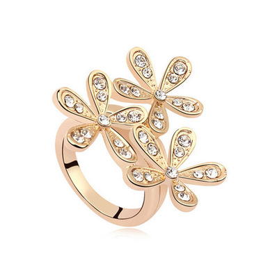 Korea wholesale fashion snowflake ring chrysanthemum ring(China (Mainland))