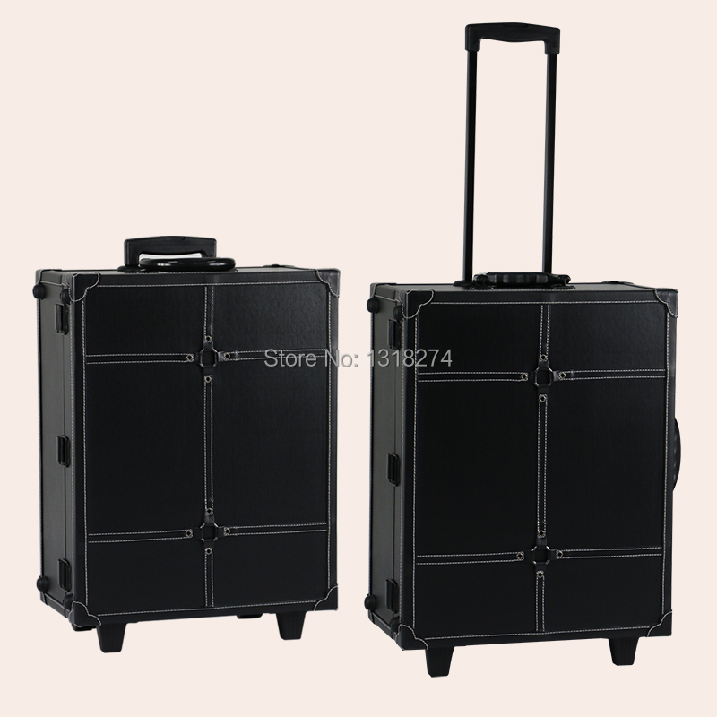 Popular PVC makeup station with lights, makeup trolley train case with 6 light bulbs(China (Mainland))