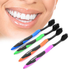 2015 Hot Sale 4Pcs/Lot Bamboo Charcoal Toothbrush Wholesale Cheap Dental Care Soft Toothbrush Bamboo Charcoal Brush Oral Care(China (Mainland))