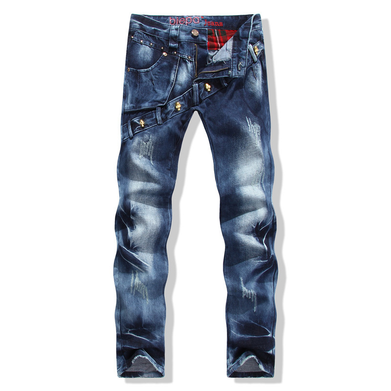 Ripped Jeans Men Homme Fashion Designer Skinny Robin 2015 Casual Pants - Lanzylin store