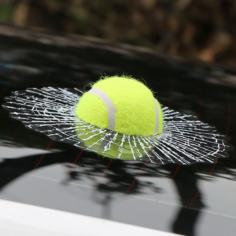Car Styling Ball Hits Car Window Tennis Car Body Sticker Design Self Adhesive Baseball Funny Car Stickers and Decals Auto Audi(China (Mainland))