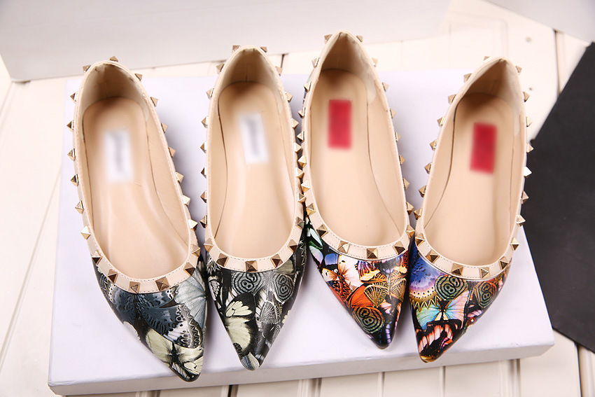 The summer of 2015 pointed rivet flat shoe bow flat shoes shoes 3